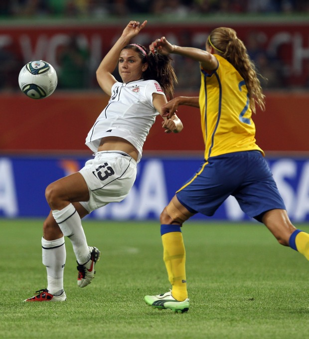 Alex Morgan in Action at the World Cup