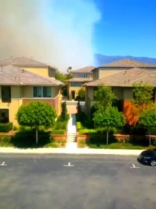 Time Lapse of Etiwanda Fire