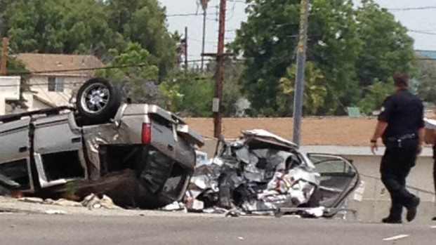[LA] One Dead, Four Injured After Police Pursuit Ends in Crash