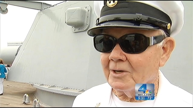 [LA] USS Iowa Hosts Reunion for War Heroes