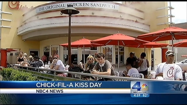 [LA] Chick-fil-A Push Back Prompts Nationwide Same-Sex Kiss-In