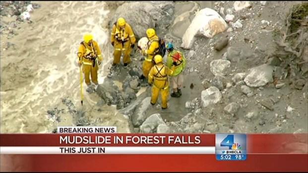 [LA] Hiker, Dog Rescued From Raging Mudslide