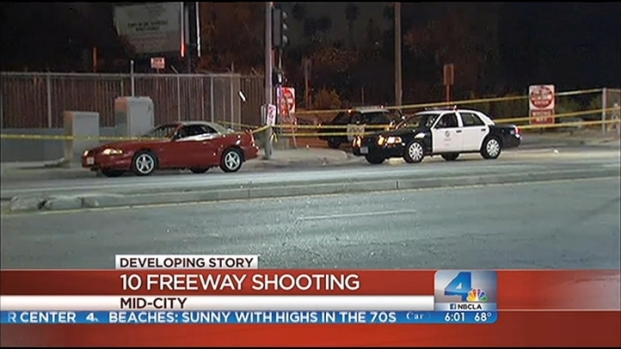[LA] Police Probe Car-To-Car Freeway Shooting