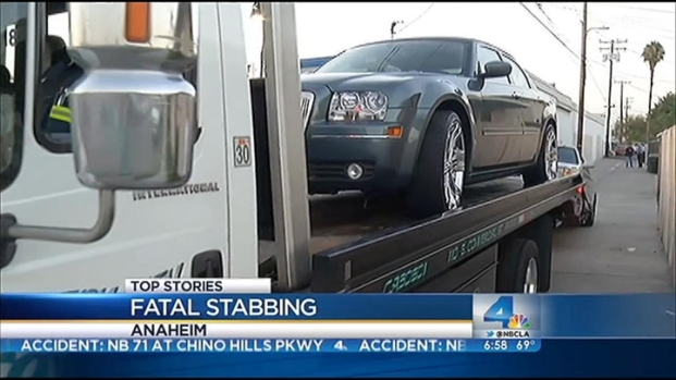 [LA] Cars Towed From Site of Anaheim Alley Stabbing