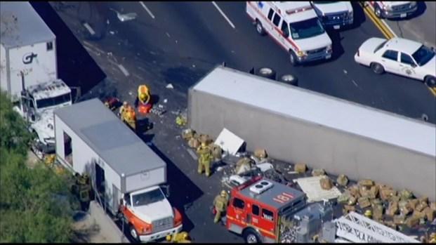 [LA] Raw Video: Fatal Crash on 60 Freeway in Diamond Bar