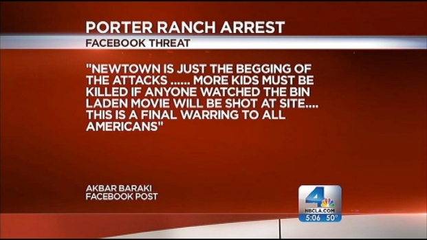 [LA] Man Accused of Threatening Children, Moviegoers on Facebook