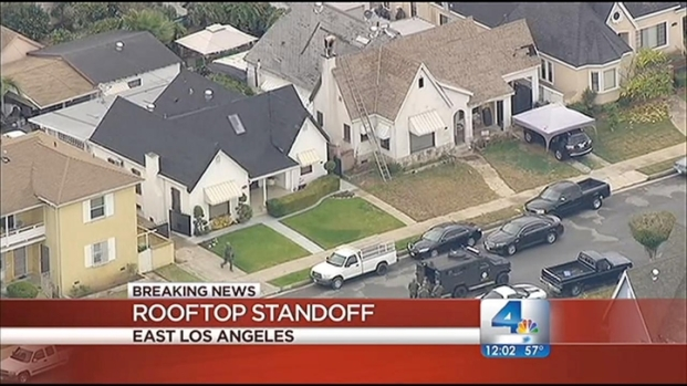 [LA] Rooftop Standoff Lasts More Than Four Hours