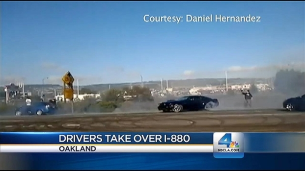 "[LA] Caught on Video: Drivers Stop Traffic ""Drifting"" Souped-Up Cars"