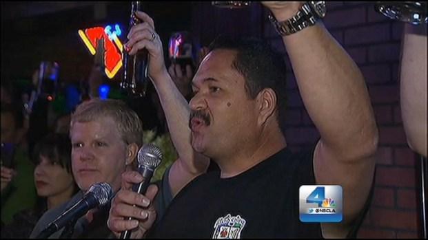 [LA] Hundreds Salute Detective, Officer Slain During Manhunt