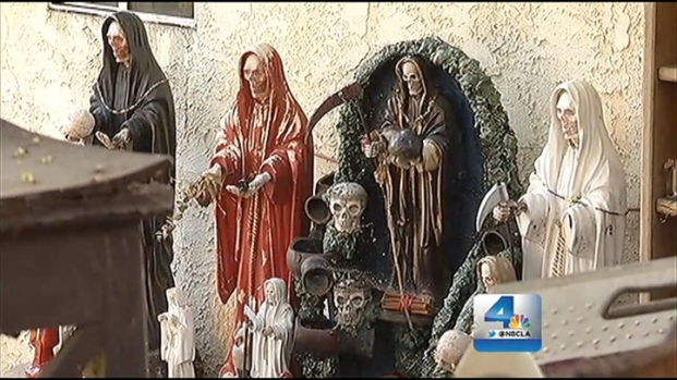[LA] Human Bones Found in Backyard Altar