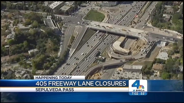 [LA] Closures on 405 Freeway Could Cause Delays