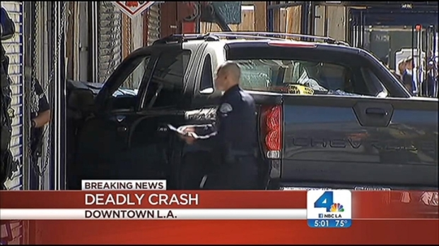 [LA] Woman Killed, 6 Others Wounded in Downtown LA Crash