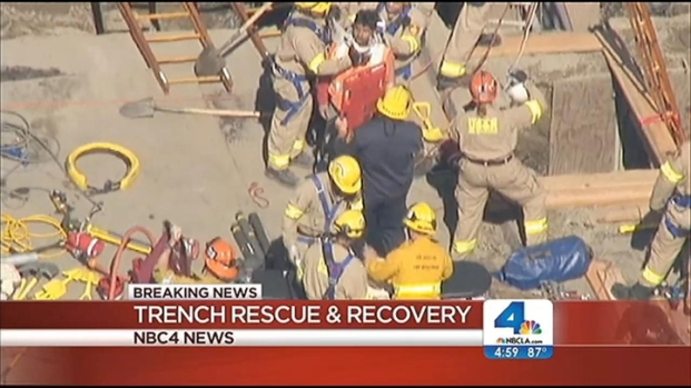 [LA] 1 Believed Dead in Pacific Palisades Trench: LAFD