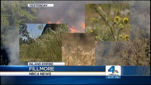 [LA] Brush Fire Fears Raised in Inland Empire