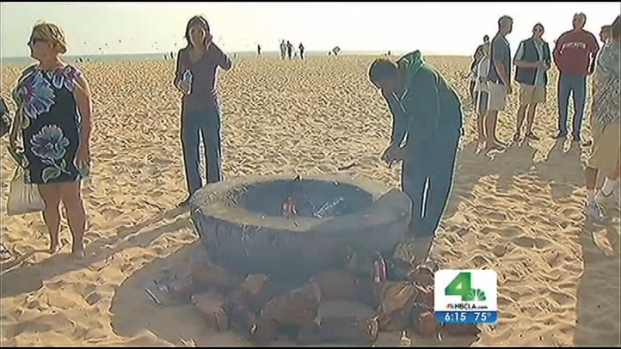 "[LA] Supporters Rally to ""Save Our Bonfires"" in Huntington Beach"