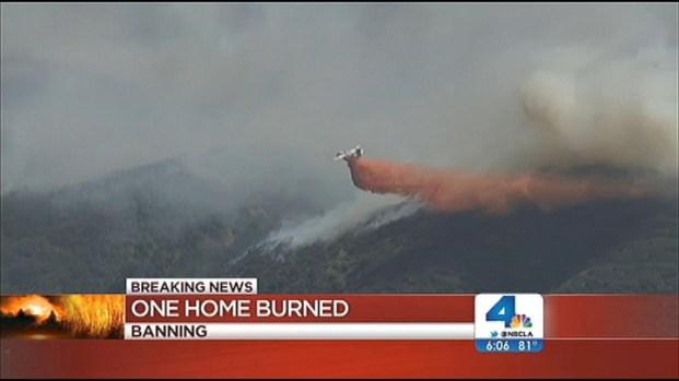 [LA] Strong Winds Fan Fast-Growing Fire in Banning