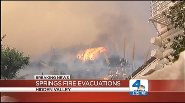 [LA] Hidden Valley Homeowners Keeping a Close Eye on Flames