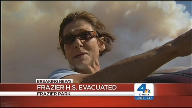 [LA] Wildfire Quickly Spreads Near Frazier Park