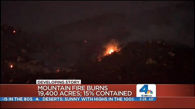 [LA] Mountain Fire Rages into 4th Day