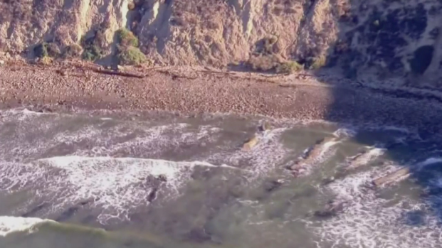 Erosion Leaves Cabrillo Beach with Rocky Shoreline