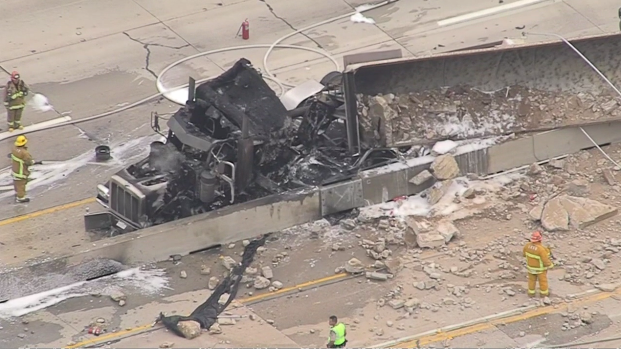 Major Crash Shuts Down the 405 Freeway