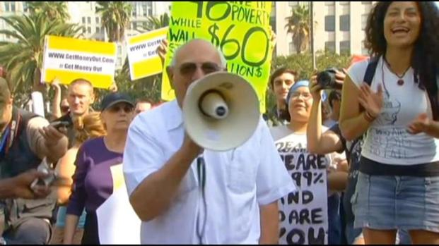 [LA] Occupy LA Demonstrators March Through Downtown