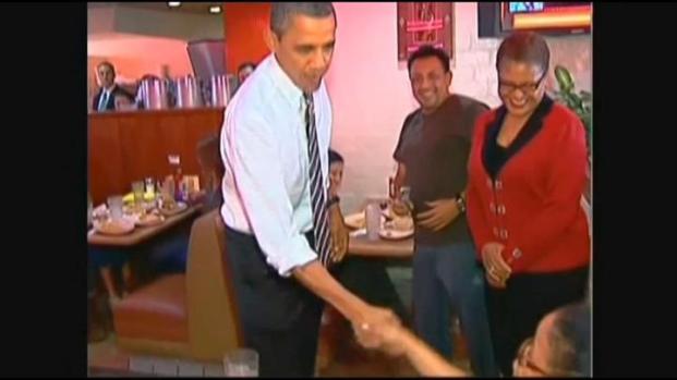 [LA] Obama Fans Wait for President at NBC Studios