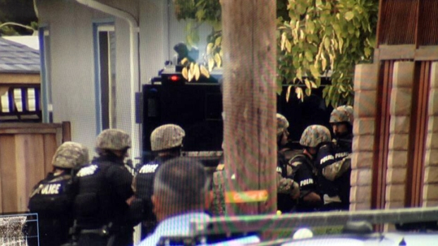 SWAT Units in Standoff at Sunnyvale Home