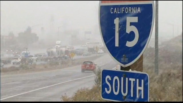 [LA] Low Snow Makes For Teacherous Drive