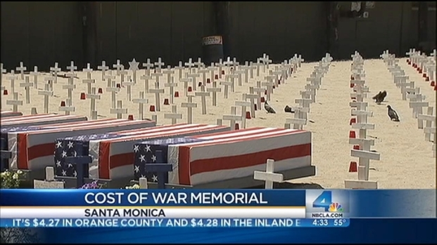 [LA] Memorial Day in SoCal: Crosses Dot Santa Monica Beach