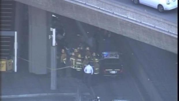 [LA] Vehicle Slams Into Bus Way