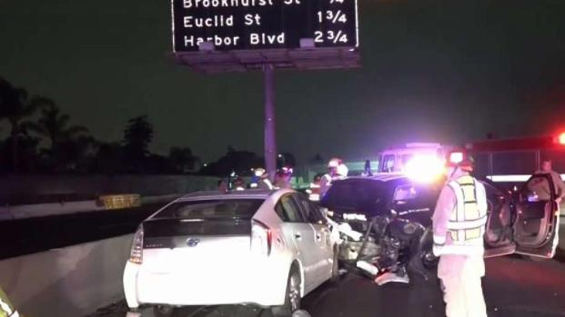 [LA] CHP Officers Injured in Work Zone DUI Crash