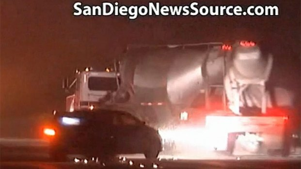 [STRINGER] Cement Truck Collision Caught on Cam