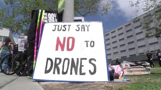 [DGO] San Diegans Protest, Debate Drones