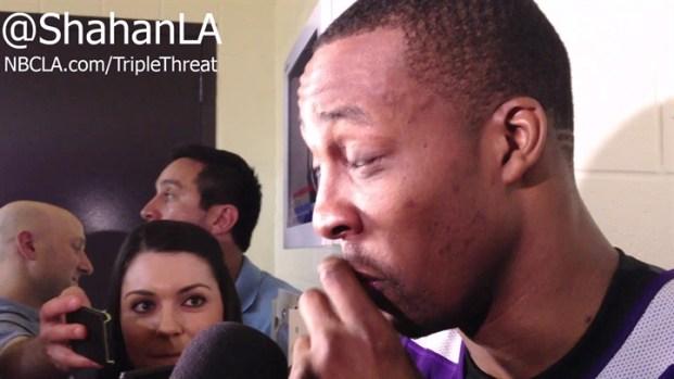[LA] Funny Dwight Howard T.O. Impression Lakers