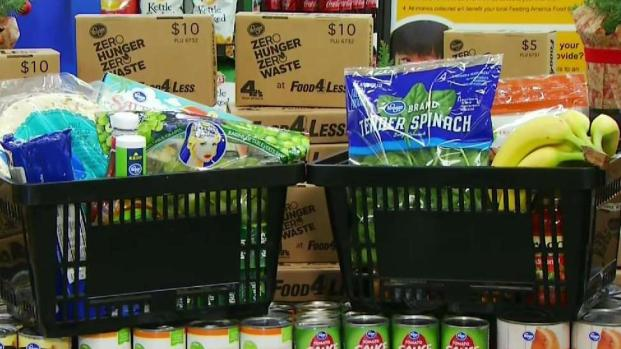 Food 4 Less Shoppers Donate to 'Help 4 The Hungry'