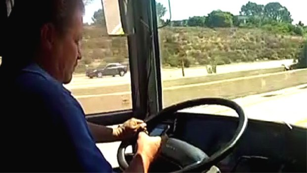 [LA] Tour Bus Drivers Caught on Camera Texting, Speeding While Driving