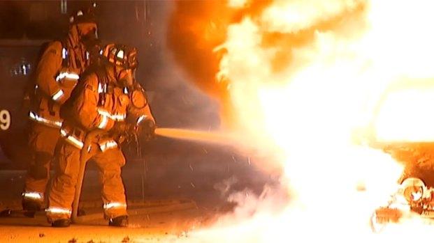 [G] Jaguar Burst into Flames in Mission Valley