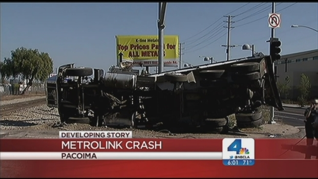 [LA] Train Vs. Truck Crash Wounds 12
