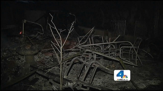 [LA] Homes Destroyed in Fillmore Brush Fire
