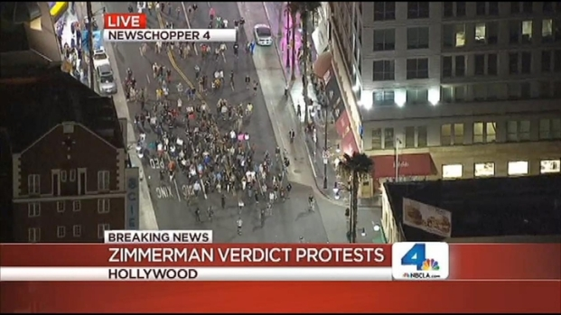 [LA] Protests Block Hollywood Boulevard