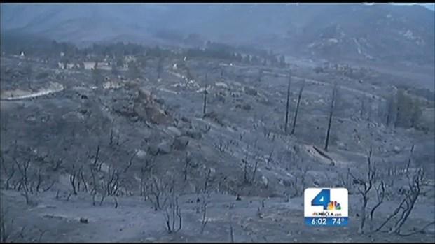 [LA] Rain Helps Firefighters Make Gains Against Mountain Fire