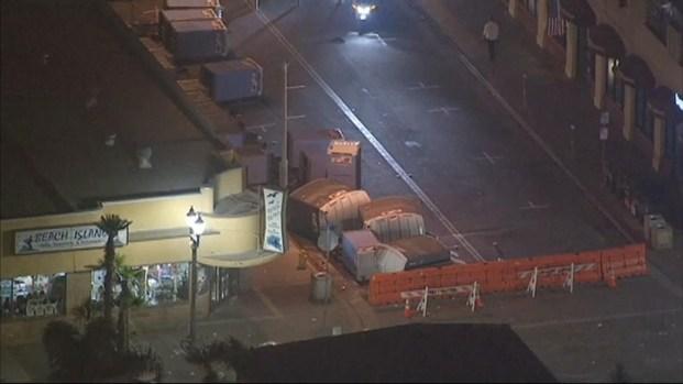 [LA] Aerial Video: Aftermath of Huntington Beach Violence