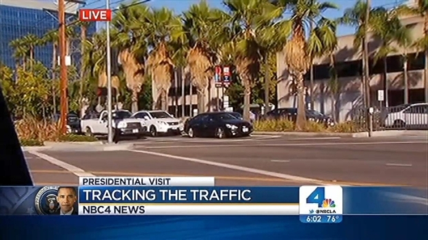 [LA] POTUS Visit Causes Traffic Jams in San Fernando Valley