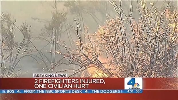 [LA] Silver Fire Threatens More Homes As It Rages Into Second Day