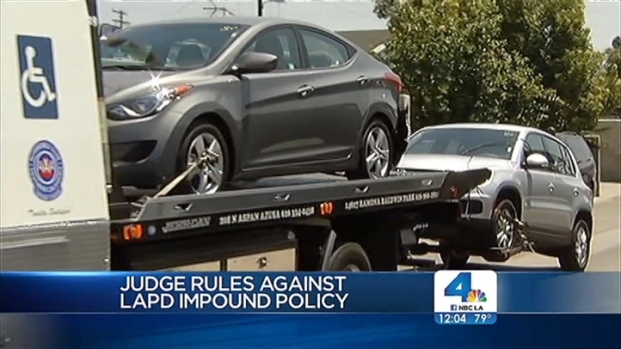 [LA] Judge Rules Against LAPD Impound Policy
