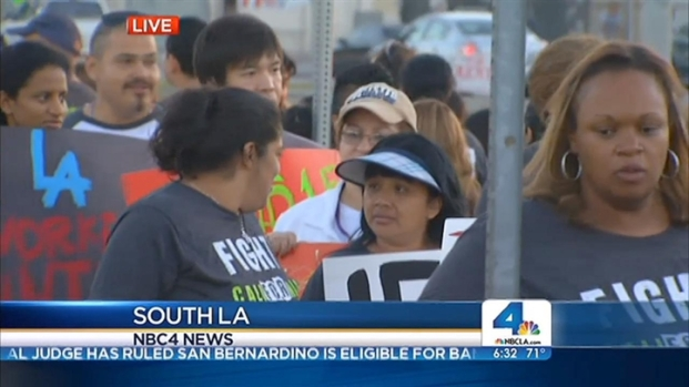 [LA] Southern Californians Join Fast-Food Workers Walk-Out