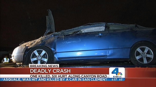 [LA] One Killed, Six Injured in Orange County Crash