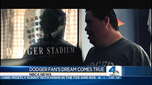 [LA] Dodger Fan's Dream Comes True
