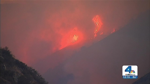 [LA] Noon Update: Firefighters Continue Attack on Azusa Fire